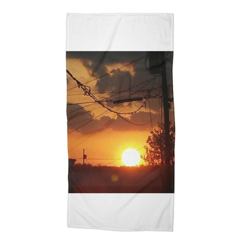 Sunset in the City Accessories Beach Towel by Mind-art Passion