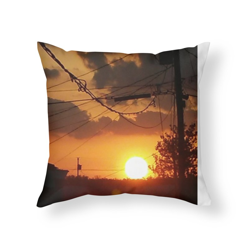 Sunset in the City Home Throw Pillow by Mind-art Passion