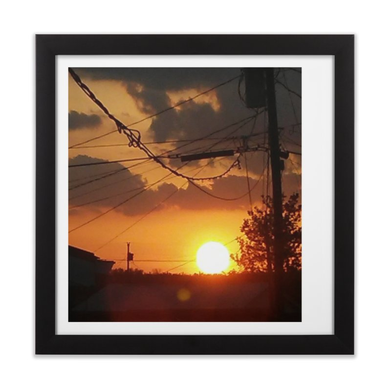 Sunset in the City Home Framed Fine Art Print by Mind-art Passion