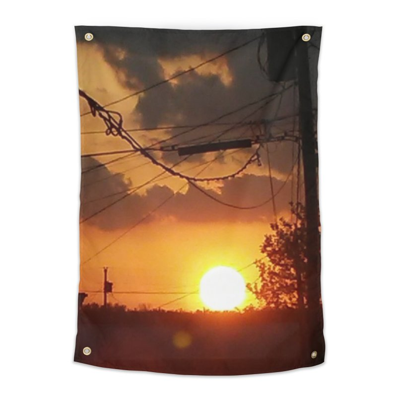 Sunset in the City Home Tapestry by Mind-art Passion