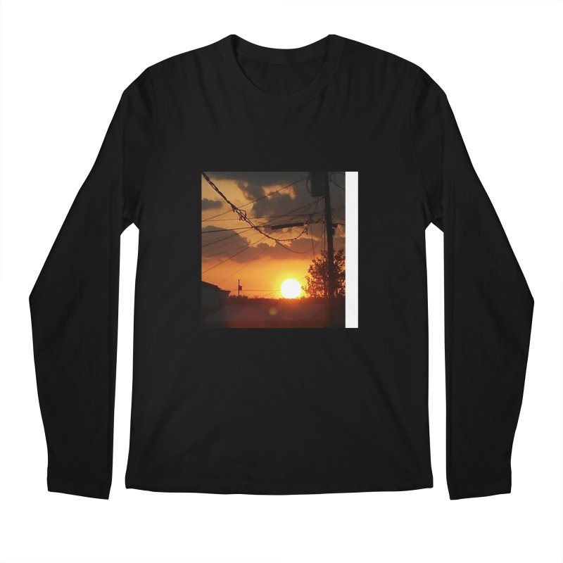 Sunset in the City Men's Longsleeve T-Shirt by Mind-art Passion