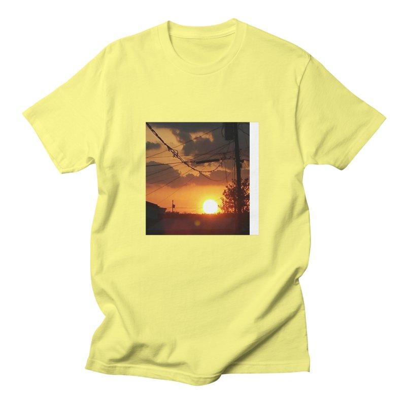 Sunset in the City Men's T-Shirt by Mind-art Passion