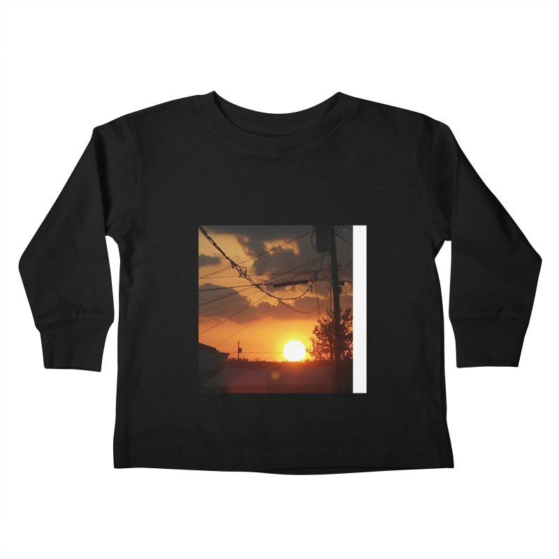 Sunset in the City Kids Toddler Longsleeve T-Shirt by Mind-art Passion