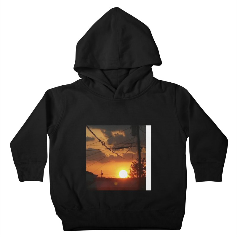 Sunset in the City Kids Toddler Pullover Hoody by Mind-art Passion