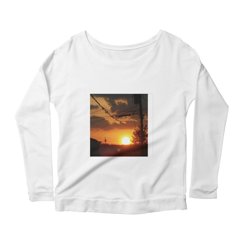 Sunset in the City Women's Longsleeve T-Shirt by Mind-art Passion