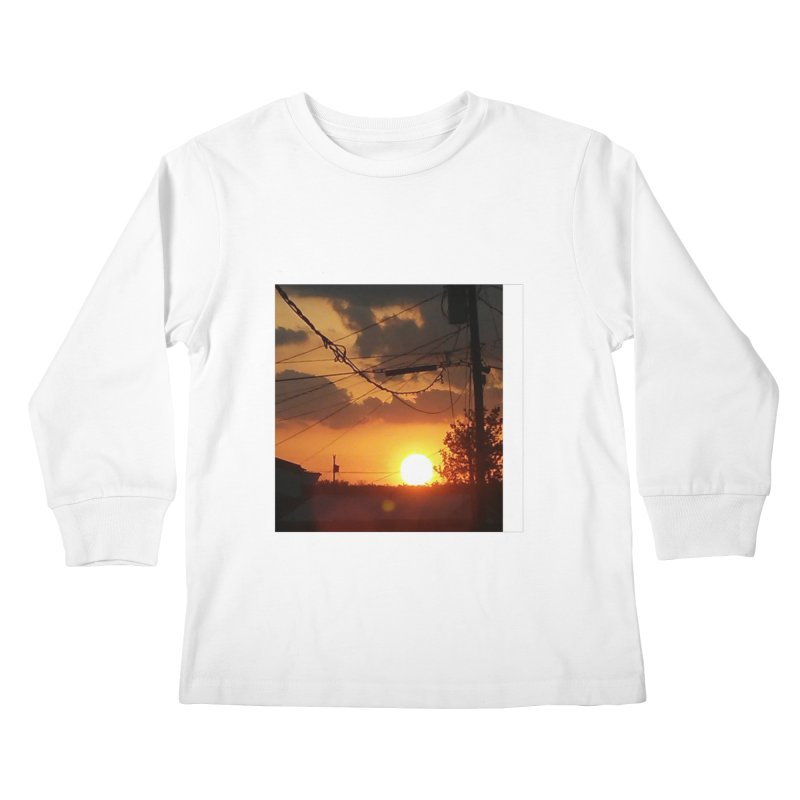 Sunset in the City Kids Longsleeve T-Shirt by Mind-art Passion