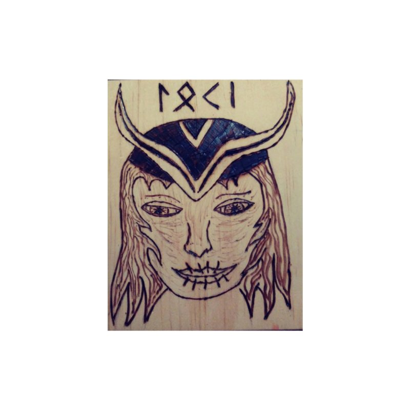 Norse God Loki Home Stretched Canvas by Mind-art Passion