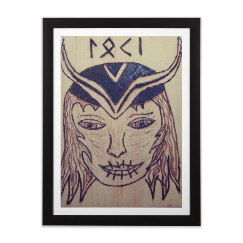 Norse God Loki Home Framed Fine Art Print by Mind-art Passion