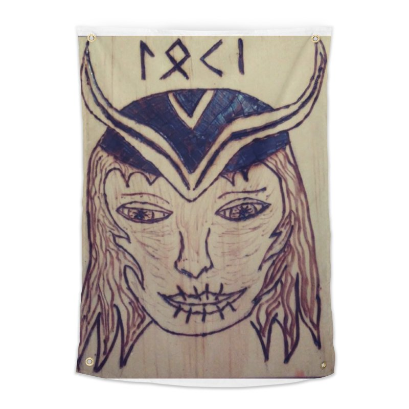 Norse God Loki Home Tapestry by Mind-art Passion