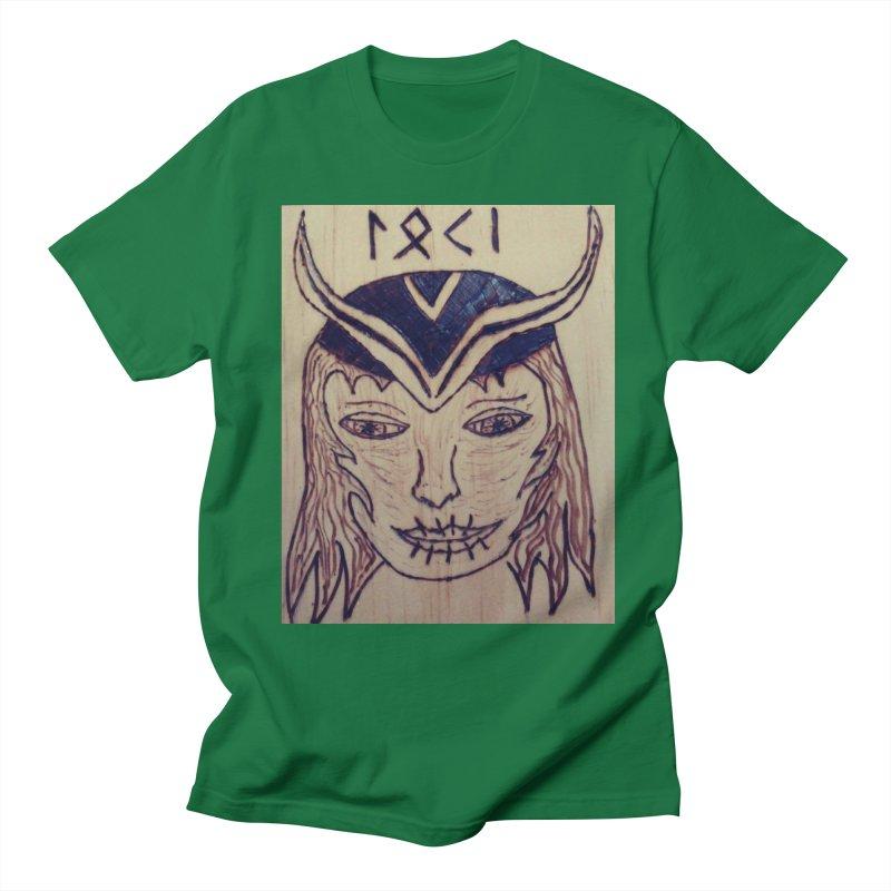 Norse God Loki Men's T-Shirt by Mind-art Passion