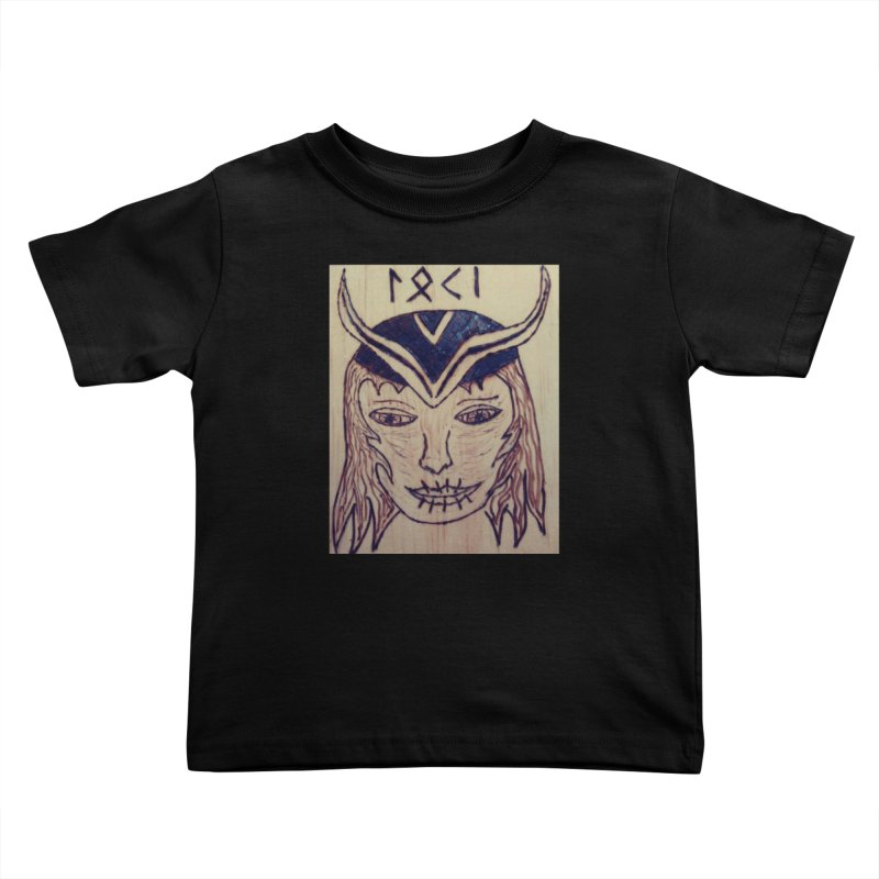 Norse God Loki Kids Toddler T-Shirt by Mind-art Passion