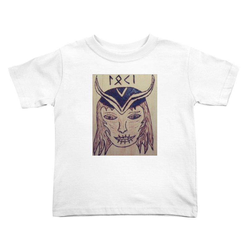 Norse God Loki Kids Toddler T-Shirt by Mind-art Passion