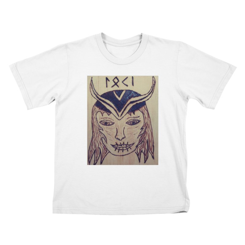Norse God Loki Kids T-Shirt by Mind-art Passion
