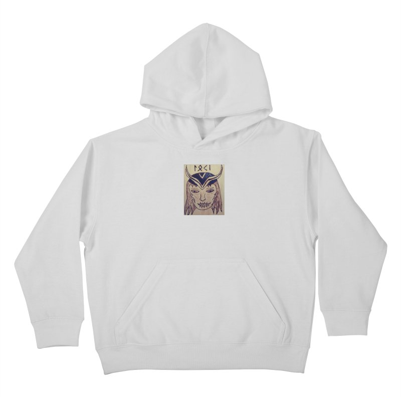 Norse God Loki Kids Pullover Hoody by Mind-art Passion