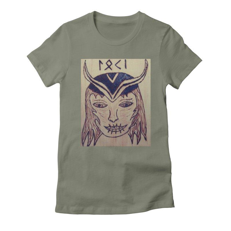Norse God Loki Women's T-Shirt by Mind-art Passion