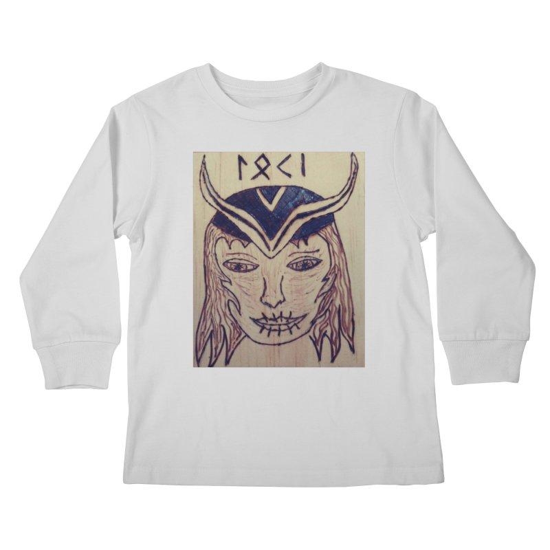 Norse God Loki Kids Longsleeve T-Shirt by Mind-art Passion