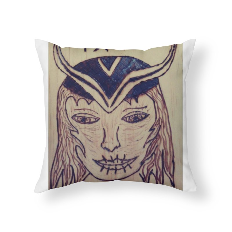 Norse God Loki Home Throw Pillow by Mind-art Passion