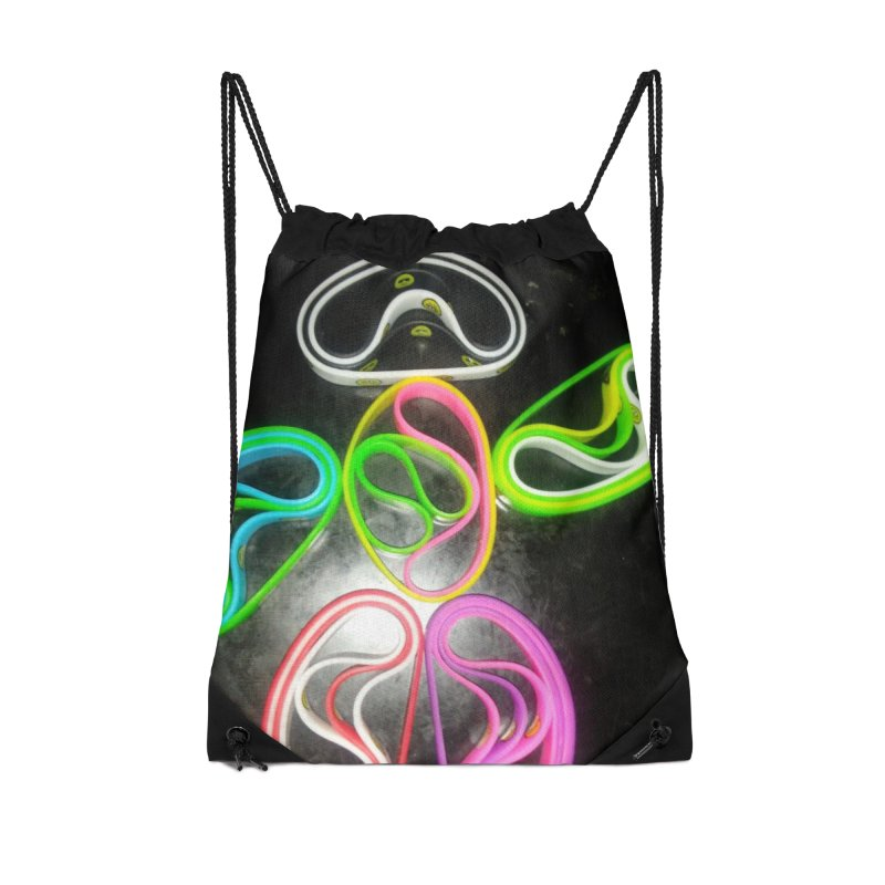 Happy Robot Dance Accessories Drawstring Bag Bag by Mind-art Passion