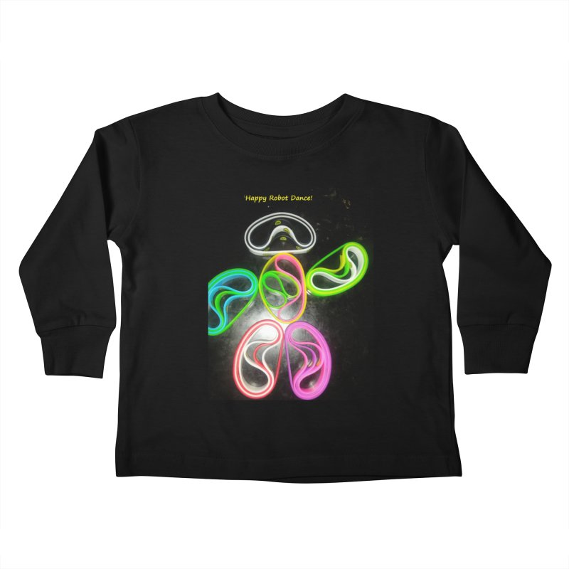 Happy Robot Dance Kids Toddler Longsleeve T-Shirt by Mind-art Passion