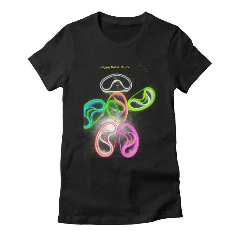 Happy Robot Dance Women's T-Shirt by Mind-art Passion