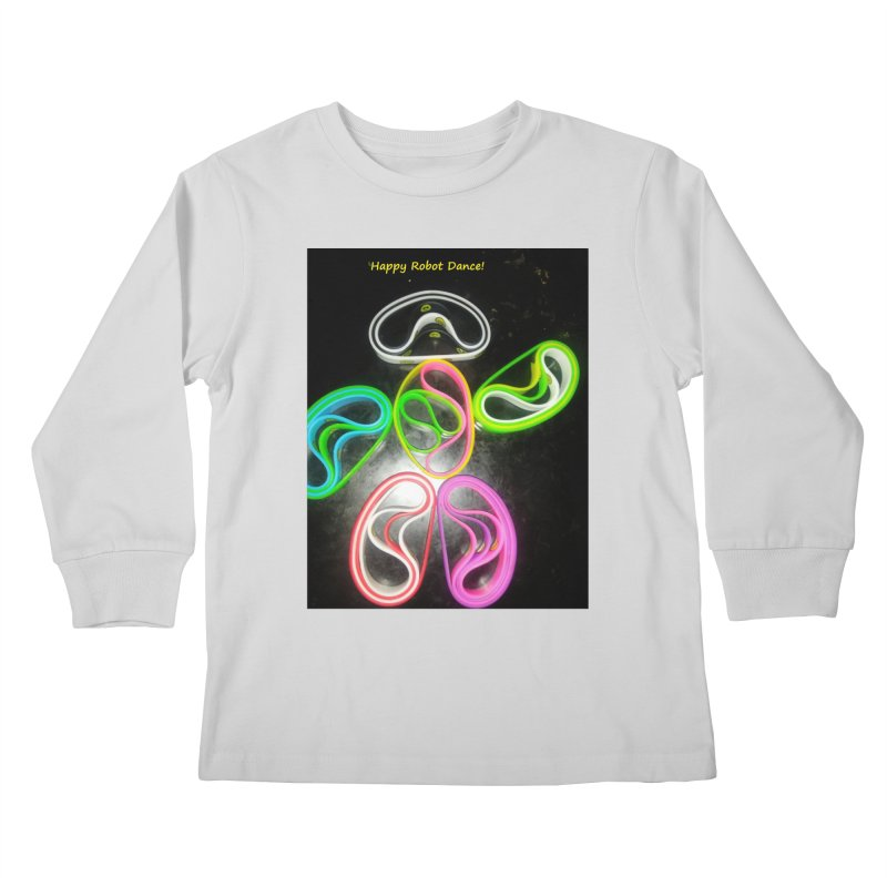 Happy Robot Dance Kids Longsleeve T-Shirt by Mind-art Passion