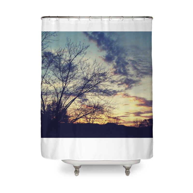 Evening Sky Home Shower Curtain by Mind-art Passion