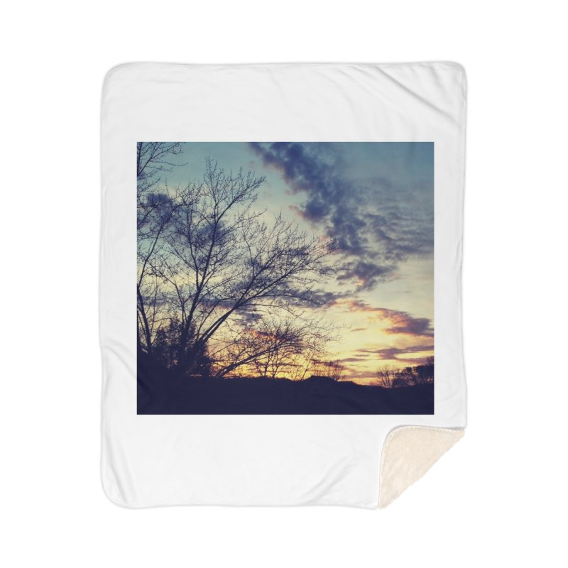 Evening Sky Home Blanket by Mind-art Passion