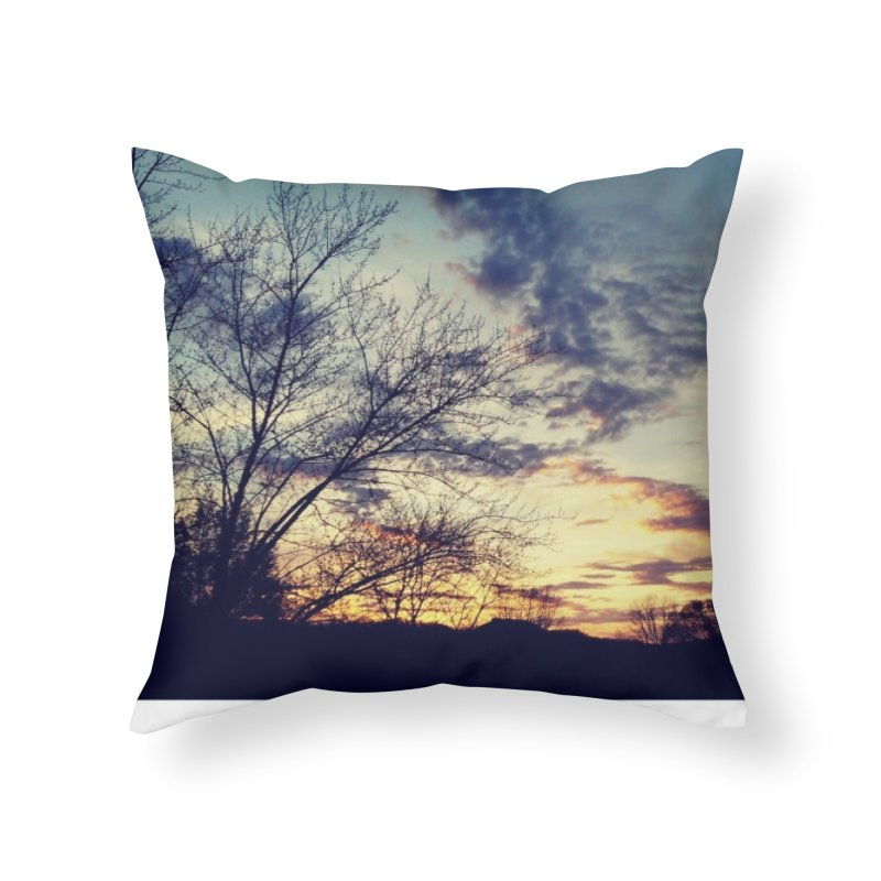 Evening Sky Home Throw Pillow by Mind-art Passion
