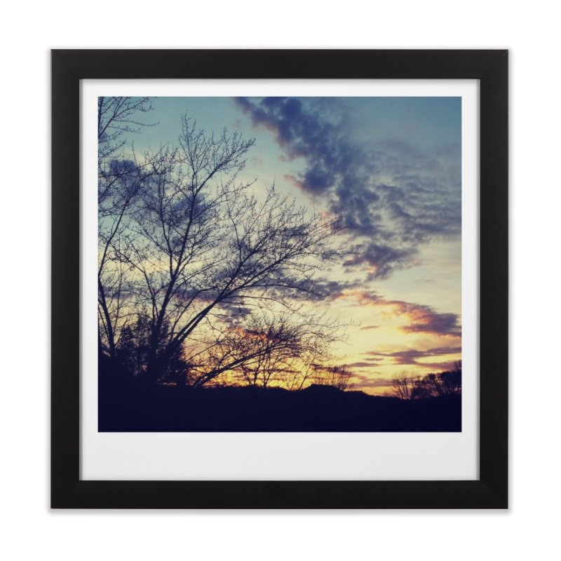 Evening Sky Home Framed Fine Art Print by Mind-art Passion