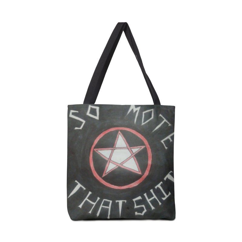 So mote that SH** Black Accessories Bag by Mind-art Passion