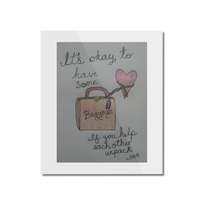 Baggage Home Mounted Acrylic Print by Mind-art Passion