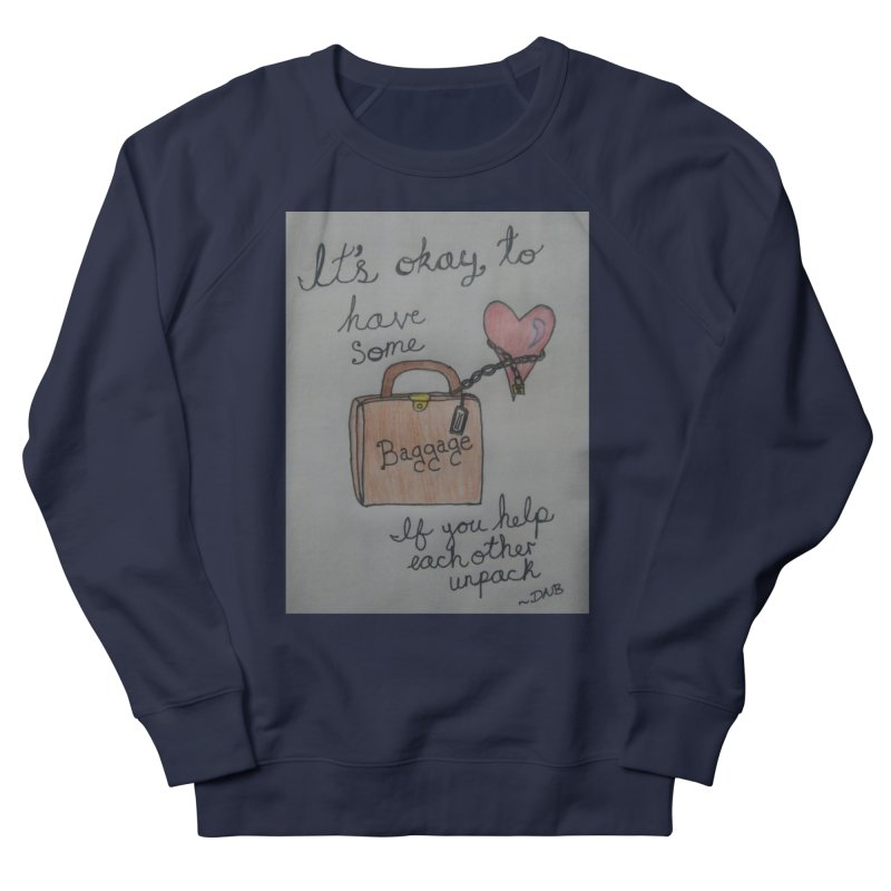 Baggage Men's French Terry Sweatshirt by Mind-art Passion