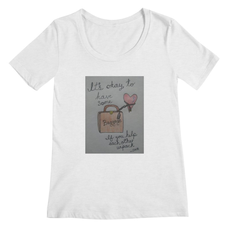 Baggage Women's Regular Scoop Neck by Mind-art Passion