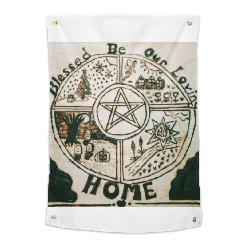 Blessed Home Home Tapestry by Mind-art Passion