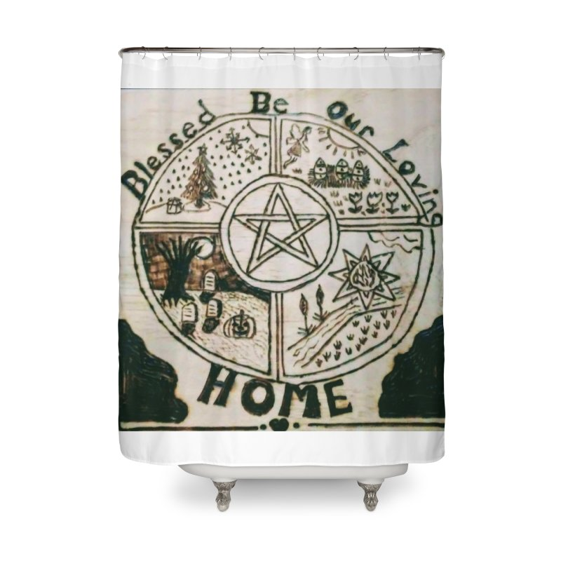 Blessed Home Home Shower Curtain by Mind-art Passion