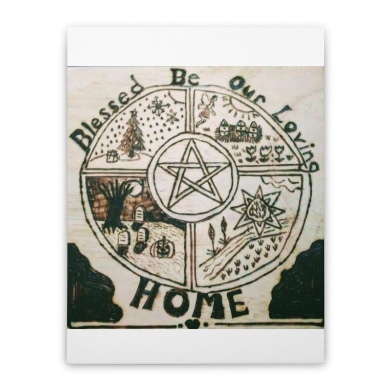 Blessed Home Home Stretched Canvas by Mind-art Passion