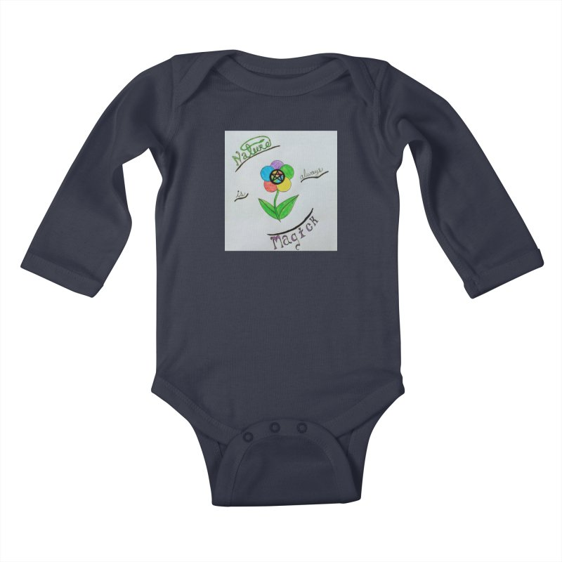 Nature Magick Kids Baby Longsleeve Bodysuit by Mind-art Passion