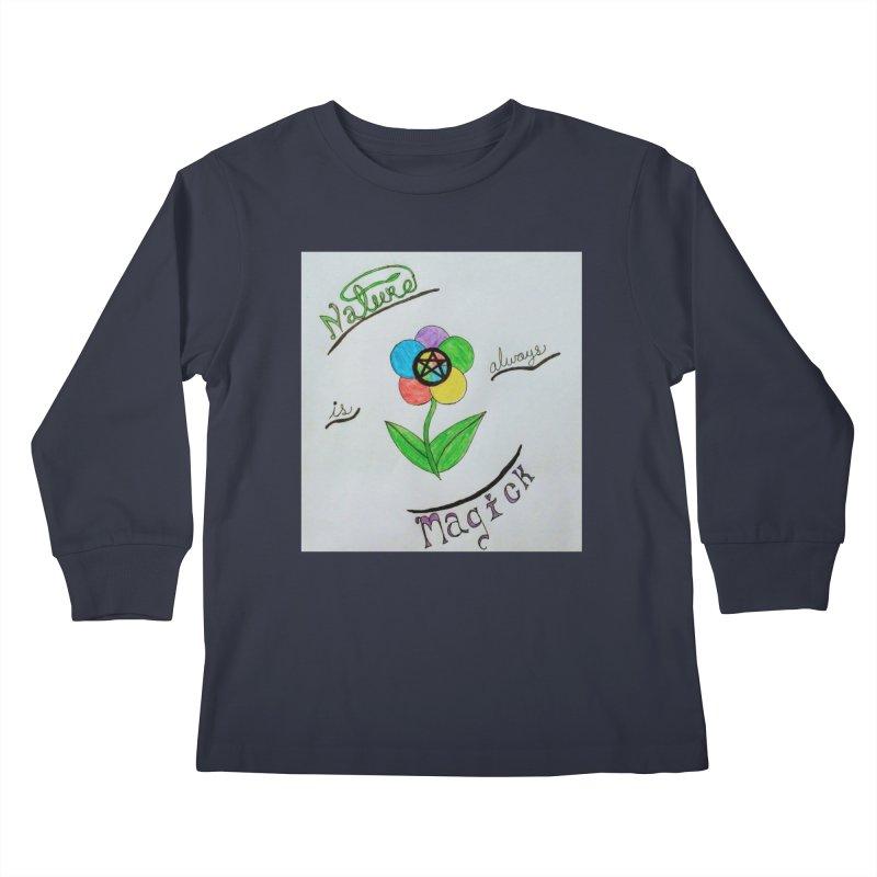 Nature Magick Kids Longsleeve T-Shirt by Mind-art Passion
