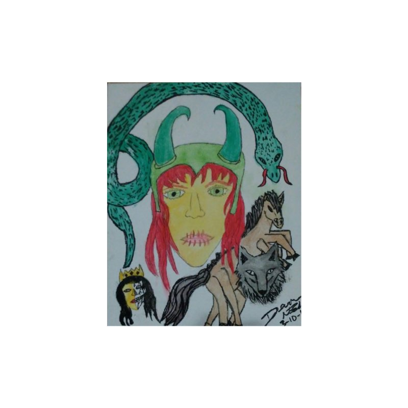 Loki's Children Home Throw Pillow by Mind-art Passion