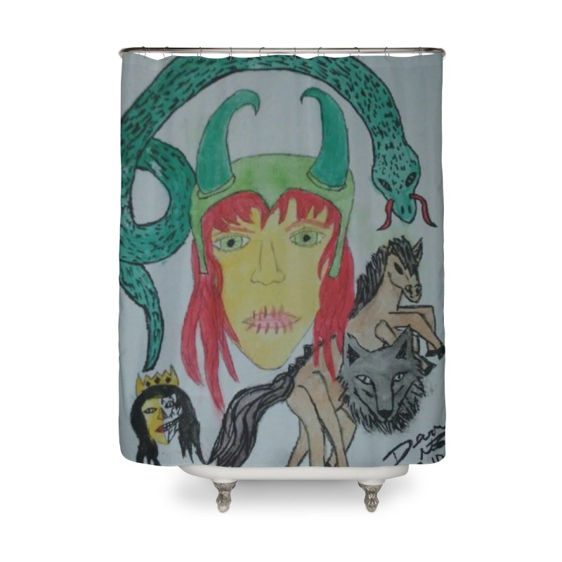 Loki's Children Home Shower Curtain by Mind-art Passion