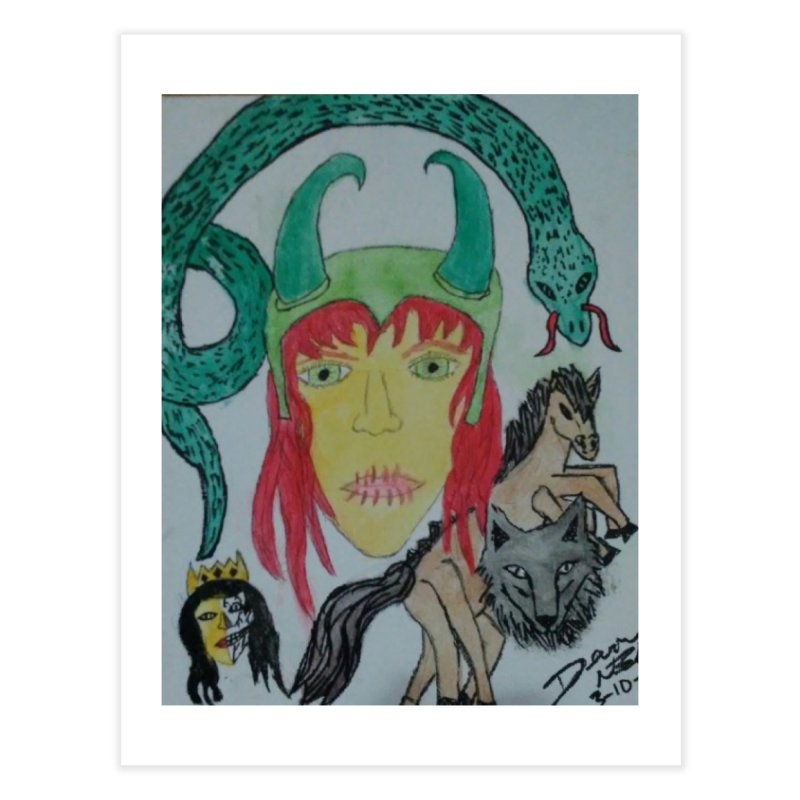 Loki's Children Home Fine Art Print by Mind-art Passion