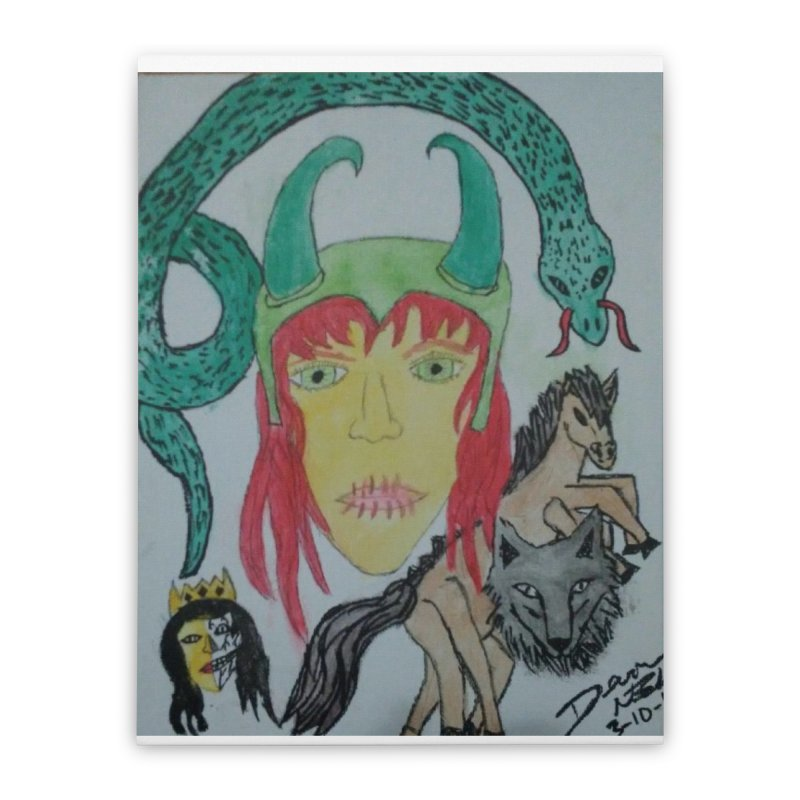 Loki's Children Home Stretched Canvas by Mind-art Passion