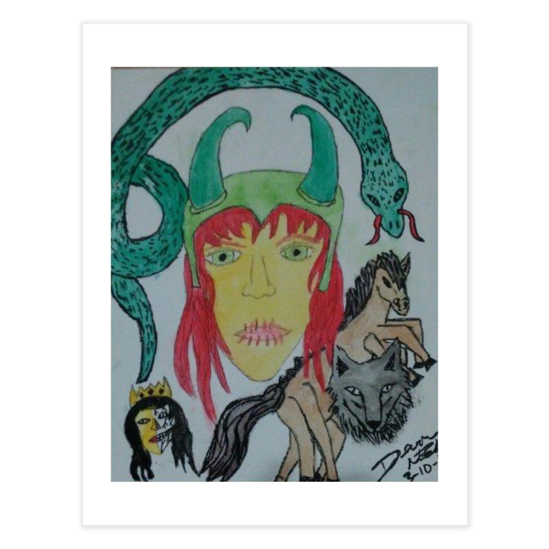 Loki's Children Home Fine Art Print by Mind-art Passion