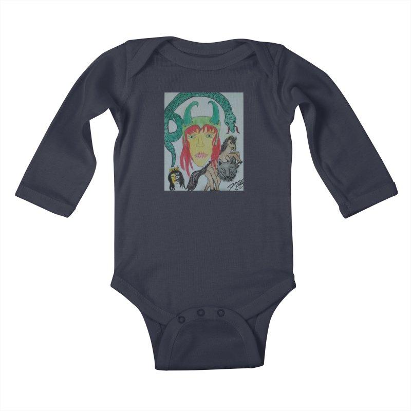 Loki's Children Kids Baby Longsleeve Bodysuit by Mind-art Passion