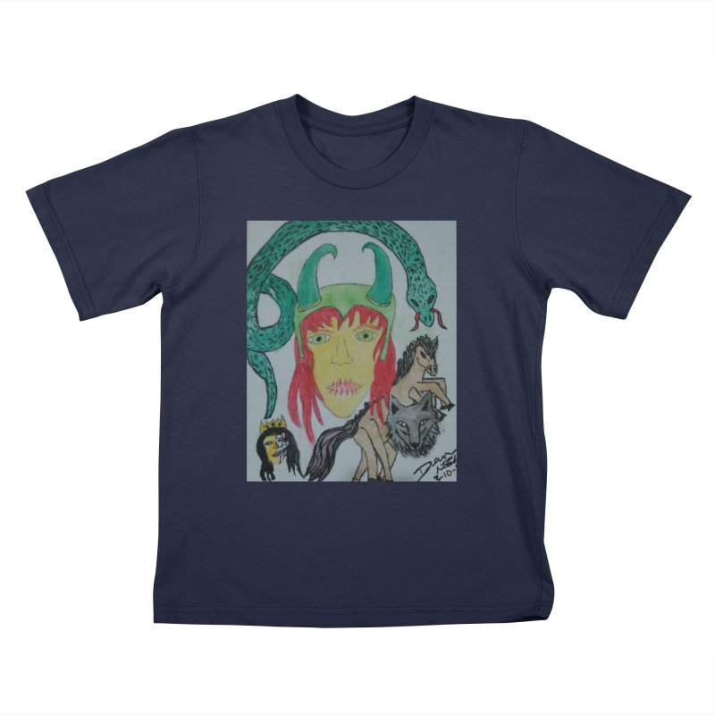 Loki's Children Kids T-Shirt by Mind-art Passion