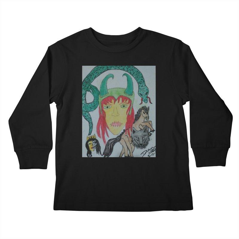 Loki's Children Kids Longsleeve T-Shirt by Mind-art Passion