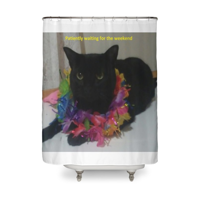 Weekend Wait Home Shower Curtain by Mind-art Passion