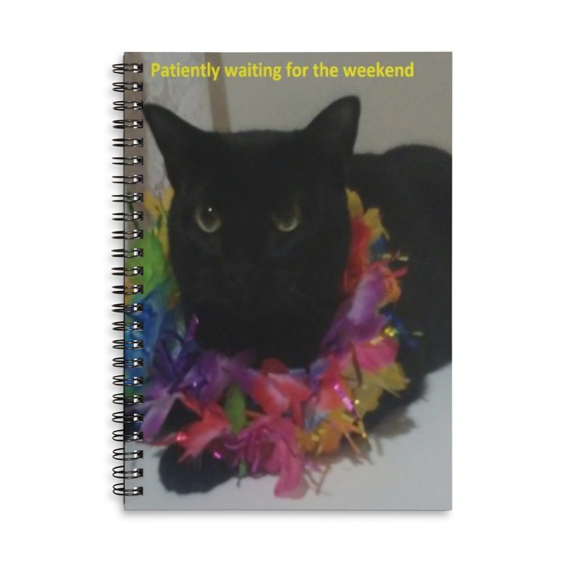 Weekend Wait Accessories Lined Spiral Notebook by Mind-art Passion