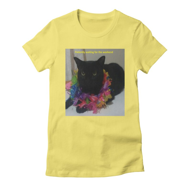 Weekend Wait Women's Fitted T-Shirt by Mind-art Passion