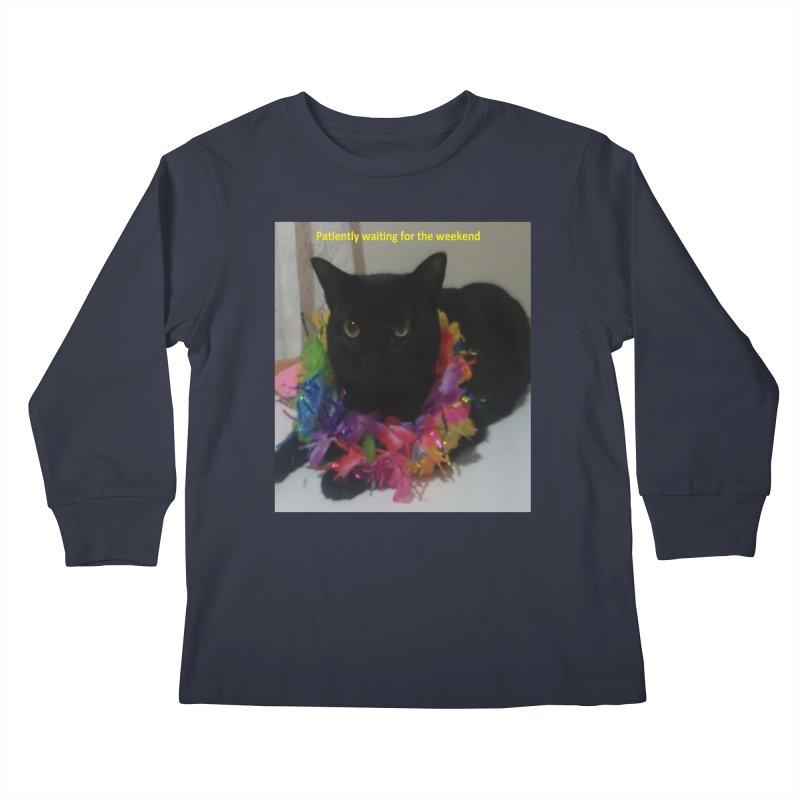 Weekend Wait Kids Longsleeve T-Shirt by Mind-art Passion